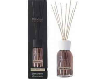 Millefiori Skleněný difuzér Natural, 250ml/Kadidlo a světlá dřeva
