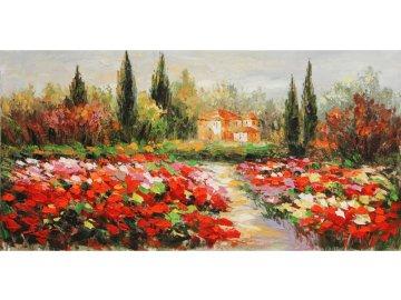 Obraz - krajina, ruční olejomalba na plátně