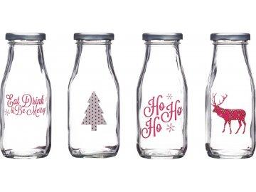 Vánoční sklenice na mléko