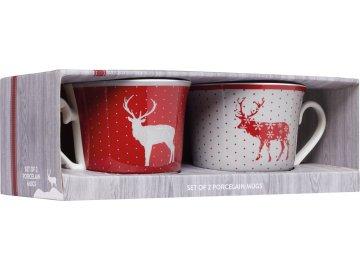 Vánoční sada porcelánových hrnků