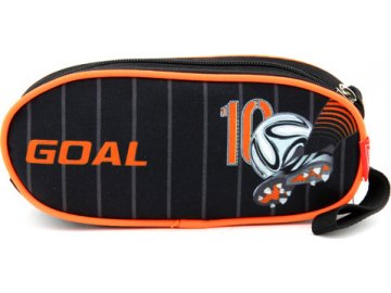 Školní penál Target Fotbal, jednoduchý, oranžovo-černý