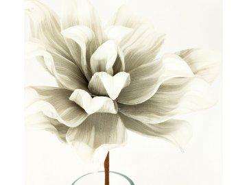 Umělá květina barva světle šedá