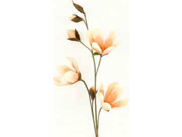 Umělá květina barva meruňková