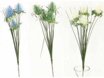 Umělá květina, šáchor, mix 3barev.