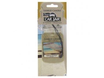 Osvěžovač vzduchu do auta | Slunce a písek | Yankee Candle | papírová visačka | 18g