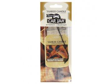 Osvěžovač vzduchu do auta   Francouzská vanilka   Yankee Candle   papírová visačka   18g