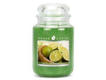 Svíčka ve skle | Bílá limonáda s bambusem | 680g