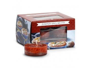 Čajová svíčka | Dýňový kořeněný muffin | sada 12ks