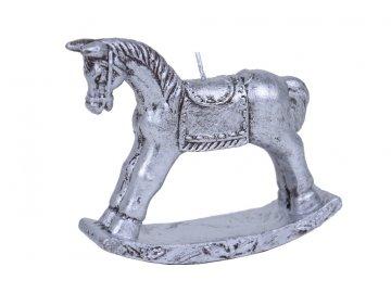Svíčka | stříbrný houpací koník