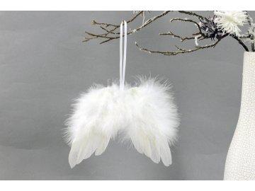 Andělská křídla z peří , barva bílá,  baleno 12ks v polybag. Cena za 1 ks.