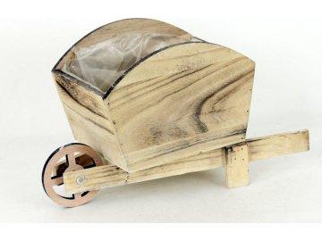 Dřevěný trakař na květiny antik