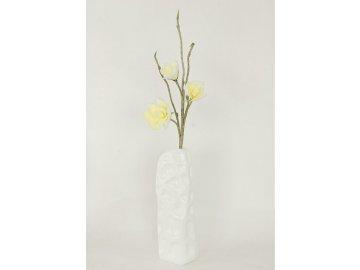 Magnolie žluto-bílá umělá květina pěnová