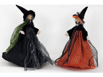 Čarodějnice, dekorace,  mix dvou druhů, cena je 1 kus