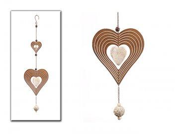 Srdce | závěsná dekorace | kov | poly | 72cm