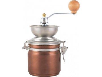 Měděný mlýnek na zrnkovou kávu La Cafetiére