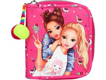 Peněženka Top Model Fergie a Christy, růžová s lamami