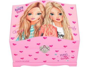 Šperkovnice Top Model Christy a Candy, růžová