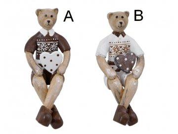 Medvěd   se srdíčkem   sedící (Velikost střední, Provedení B)
