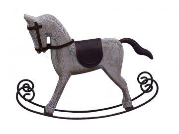 Houpací kůň | dřevěný | hnědý