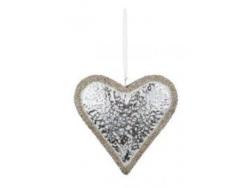 Srdce | stříbrné | závěsné