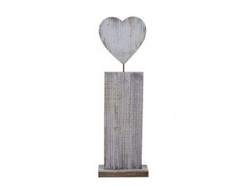 Dekorace srdce | dřevěné