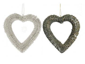 Srdce | drátěné | pletené (Barva zlatá)