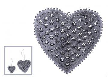 Srdce | kovové | šedé