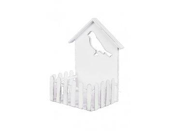 Domeček pro ptáčky s plotem | dřevěný