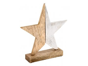 Hvězda | na stojánku | dvoubarevná