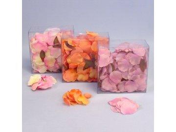 okvetni listky ruze 330ks mix oranz lila ruzova