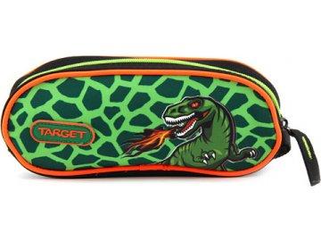 Školní penál Target T-Rex, jednoduchý, zelený
