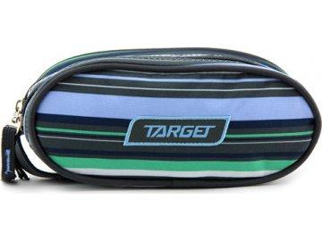 Školní penál Target Jednoduchý, zeleno-modro-šedé pruhy