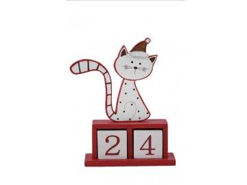 Adventní kalendář   otáčecí   s kočkou