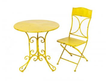 Židle Sun | žlutá | kov | 92x39x38cm