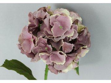Hortenzie, umělá květina, barva fialová