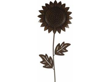 Zápich slunečnice kov 111 cm