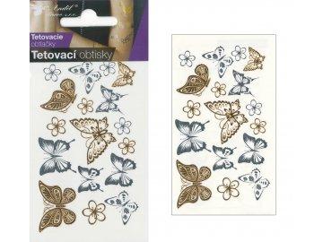 Tetevacé obtisky motýlci | 15x9cm