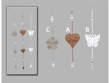 Girlanda | motýl | květina | srdce | varianty | 78x9cm