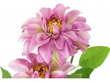 Umělá květina,Jiřinka, barva lila