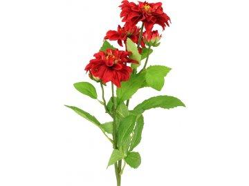 Umělá květina,Jiřinka, barva červená