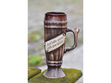 Korbel Jan s nápisem ... žízeň dobře zažene ...