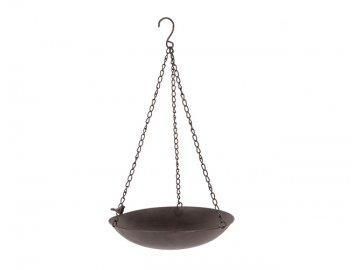 Pítko pro ptáčky | záv. | 57x35x32cm | kov | hnědé