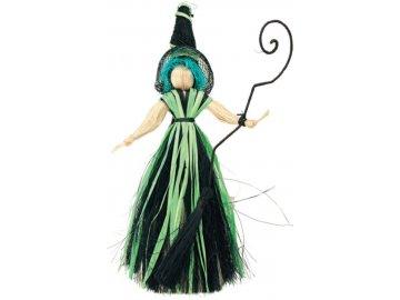 Čarodějnice s modrými vlasy 20cm