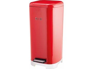 Plechový odpadkový koš Lovello červený