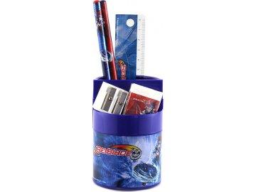 Stojánek s náplní Beyblade 5-dílný, kombinovaný, modrý s motivem Beyblade