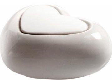 Keramický difuzér Millefiori Milano Lovely, srdce, bílý