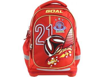 Školní batoh Target 3D Goal, barva červená