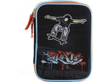 Školní penál Target Skate, barva černá