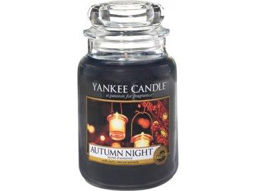 Svíčka ve skleněné dóze Yankee Candle Podzimní noc, 623 g