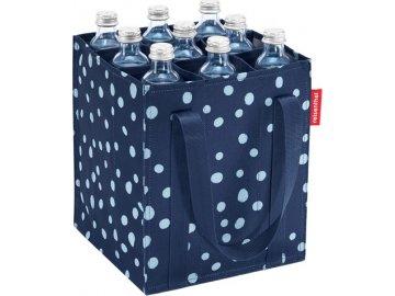 Taška na láhve Reisenthel Modrá s bílými puntíky, Bottlebag